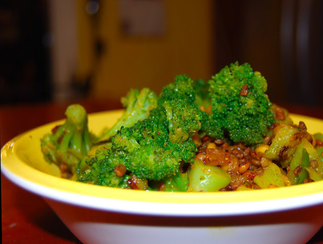 broccoli with methi seeds