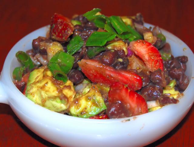 Strawberry Avocado Black Bean Salad
