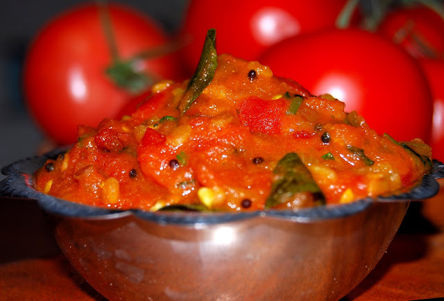 Spicy Tomato Chutney, Tamil recipe