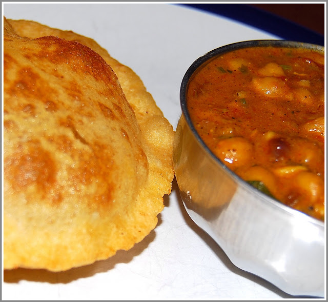 Chhole Bhatura, a vegan Indian recipe