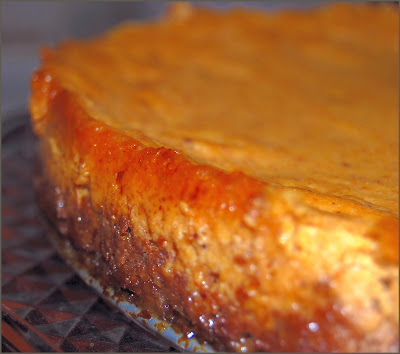 Vegan recipe for Pumpkin Cheesecake