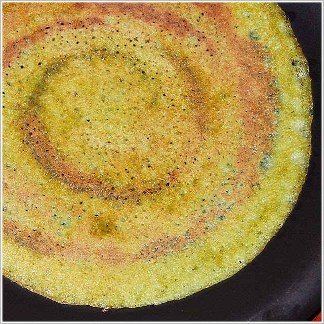 Adai is a thicker dosa. This version has coriander.