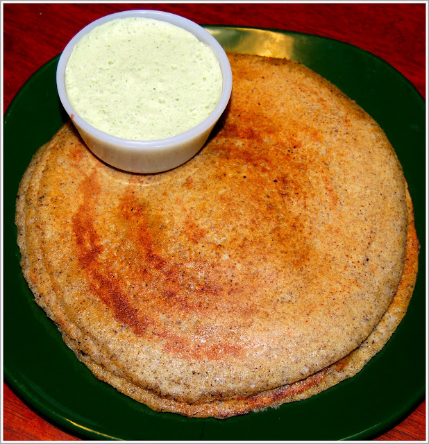 Easy Brown Rice Dosa, a Tamil recipe