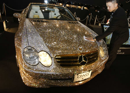 Crystal Mercedes-Benz SL600 at Tokyo Auto Salon 2009