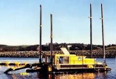 Bucket River Dredge-Ponton untuk sungai dalam berarus kuat