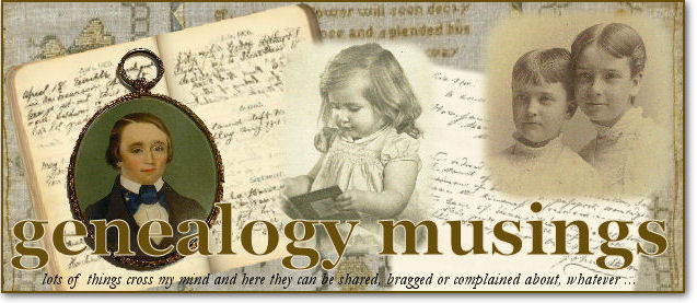 genealogy musings