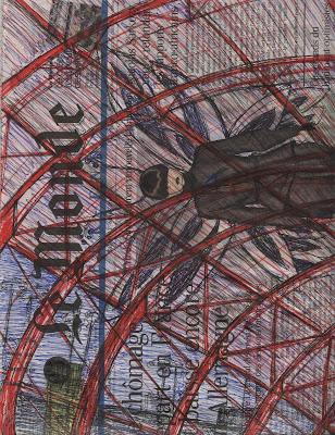 dibujo Escala en París Charles de Gaulle