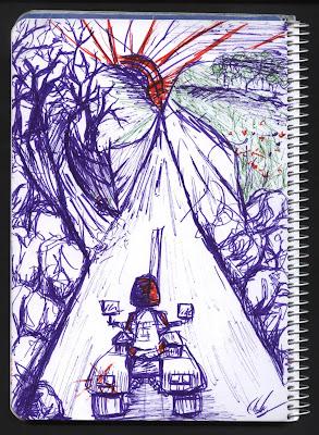 dibujo Cuatro Caminos
