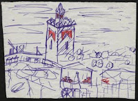 dibujo marrakech marruecos Plaza Djemma El-Fná