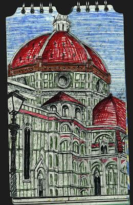 Duomo de Firenze. Italia. dibujo, drawing