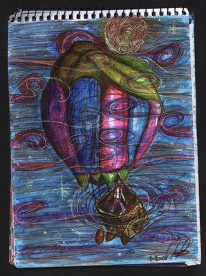 dibujo, Al son del viento