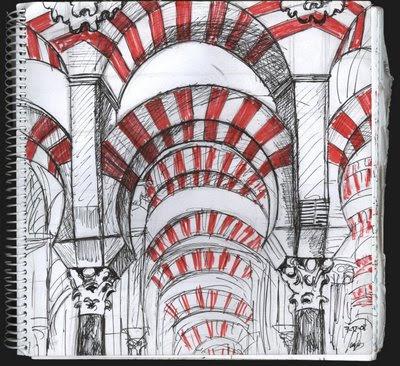 dibujo Mezquita de Córdoba
