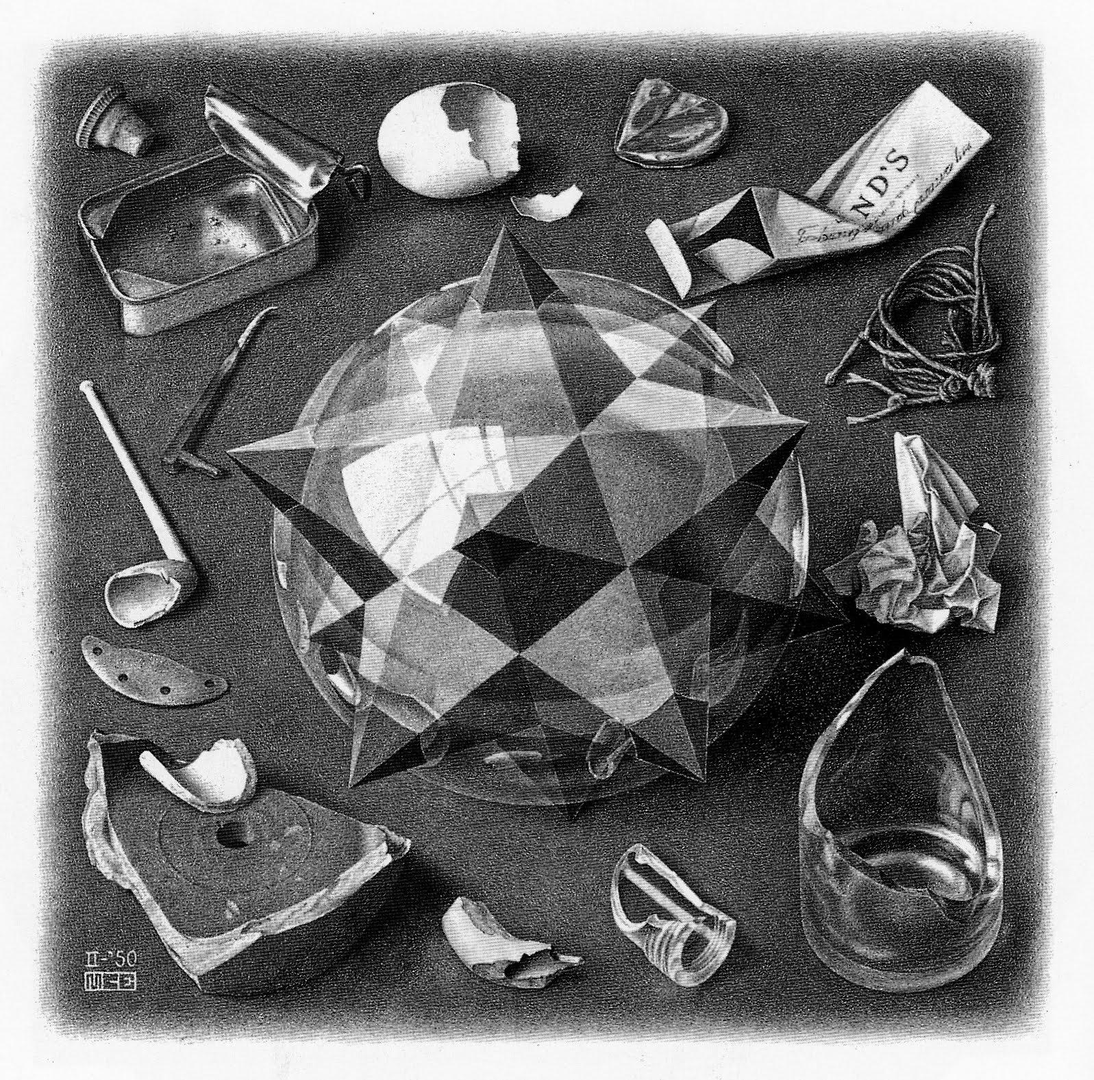Poes a abierta obra de escher 39 orden y caos 39 y mosaico ii for Espejo y reflejo del caos al orden pdf