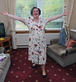 Susan Boyle at her home