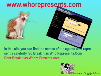 Mispronounced urls,silly domain names having double meaning,whorespresents.com