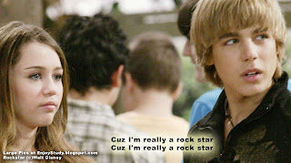 Hannah montana (miley cyrus) Rock star pop song with subtitle