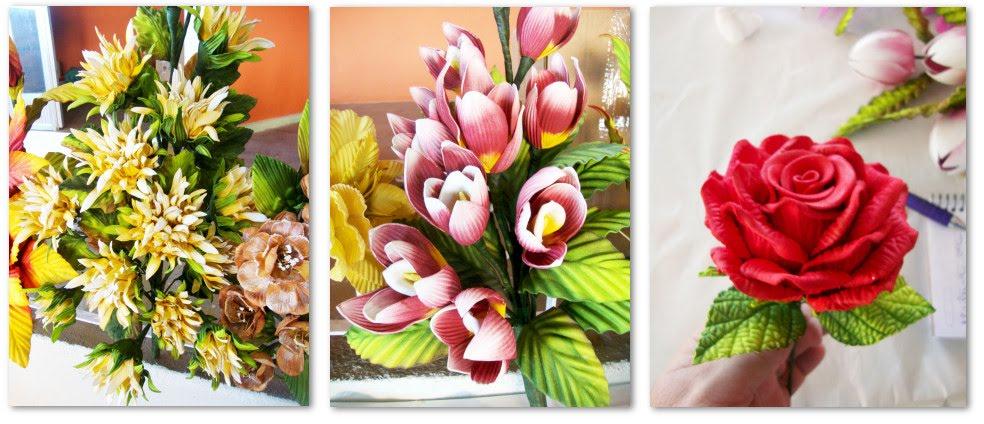 Curso De Flores Em EVA  Veja Foto Deste Lindo Trabalho