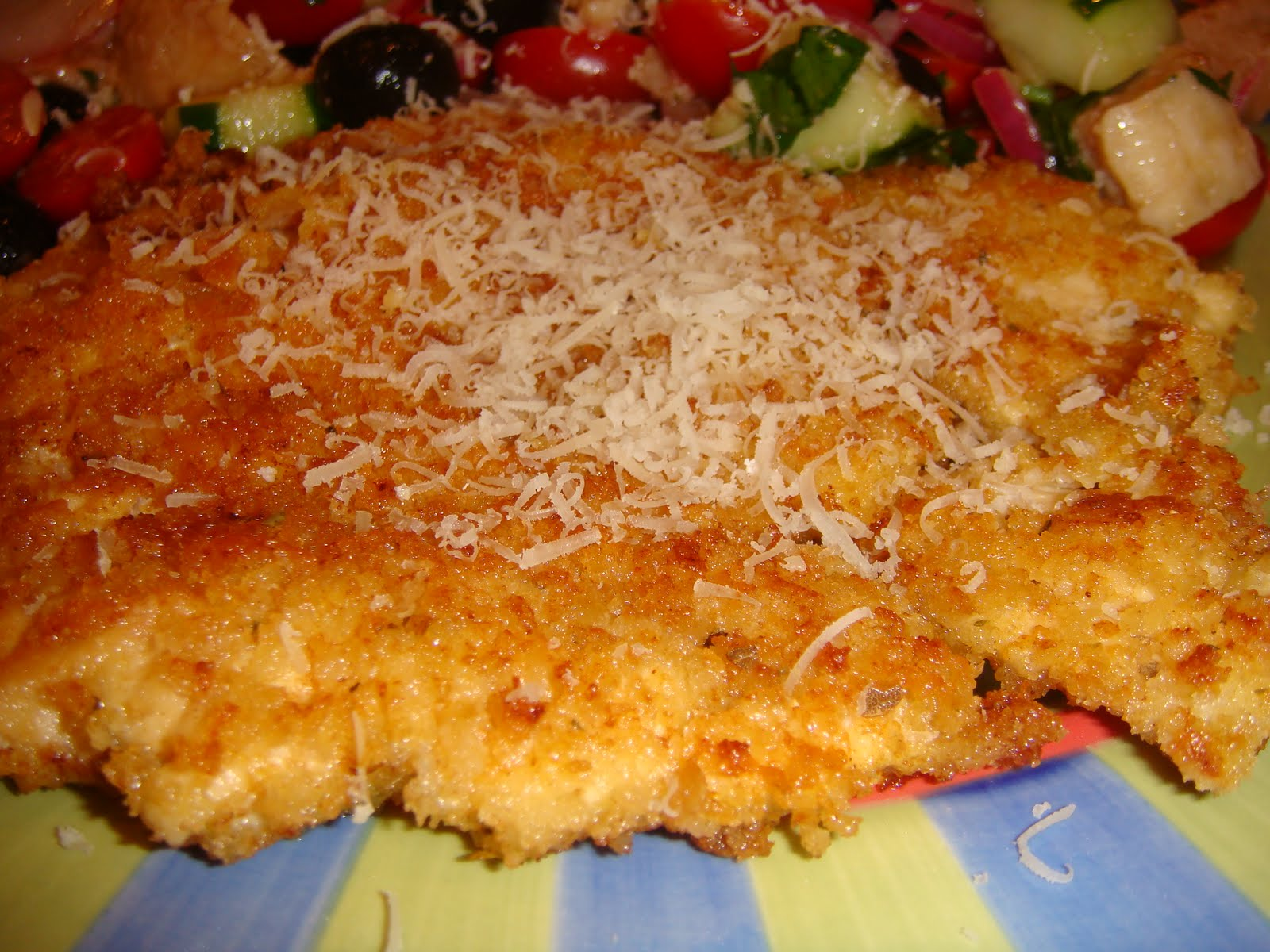 Breast chicken crusted parmesan recipe