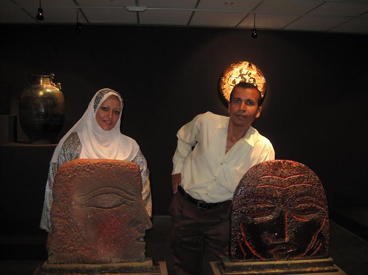 فى مكتبة الاسكندرية مع الصحفية هناء سيف الدين