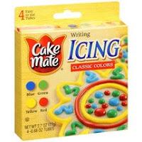 Cake Mate Blue Icing Tubes