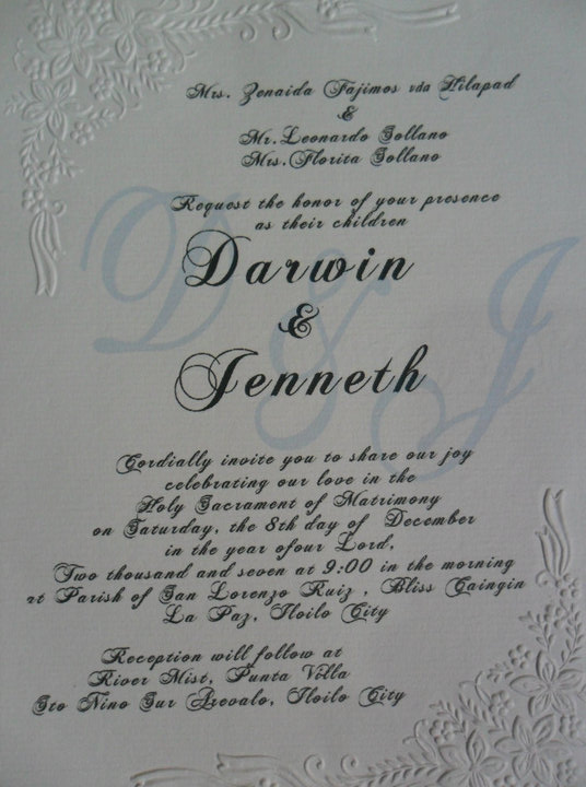 wedding day December 2007 After two years I received another invitation