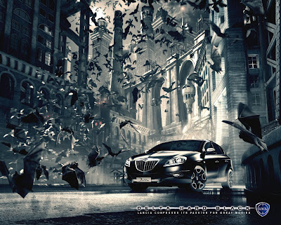 Publicité Lancia Delta : la version Hard Black rend hommage à Batman