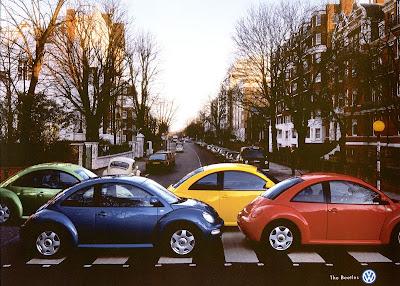 Publicité OVolkswagen Beetle : hommage à Abbey Road
