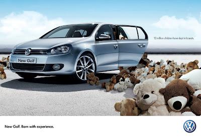 Publicité Volkswagen Golf : conçue avec de l'expérience