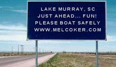 This Way to Lake Murray!