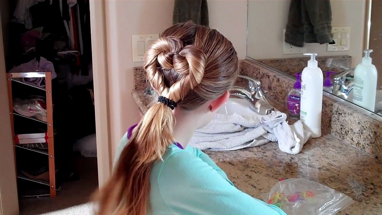 Heart Hair Do For Valentines Day