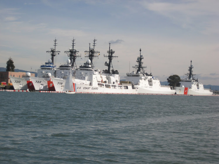 Oakland Coast Guard Station - 5 Serious Looking Ships
