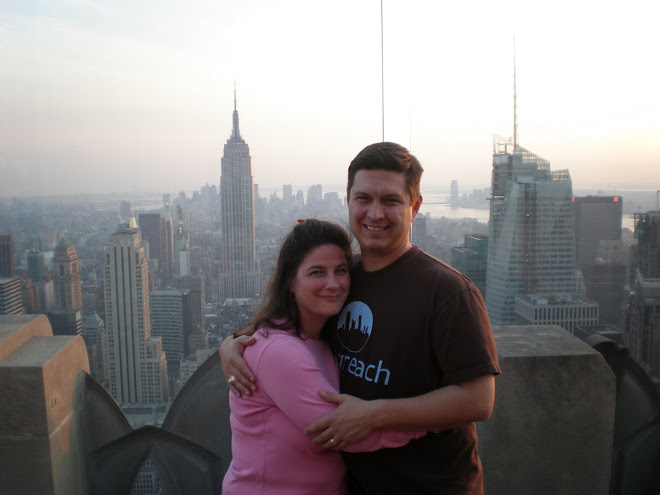 "NYC...Jill and I at the ""Top of the Rock"""