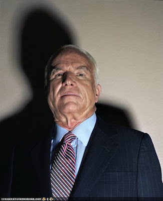Controversial unretouched photo of John McCain by Jill Greenberg