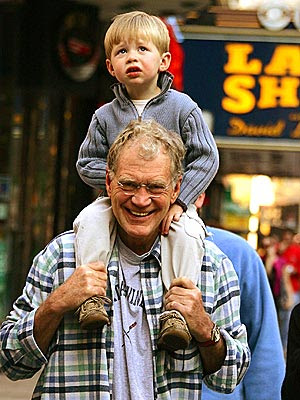 David Letterman with his son Harry