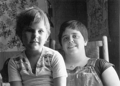 Maggie with daughter, August 1977