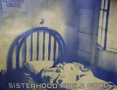 Sisterhood Feels Good poster from the 1970s
