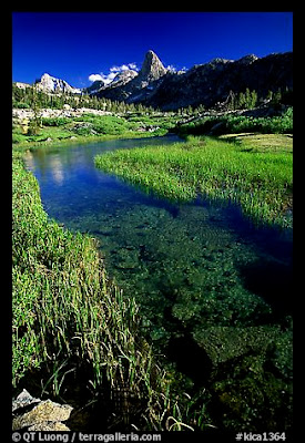 Stream and mountains in Kings Canyon National Park, CA
