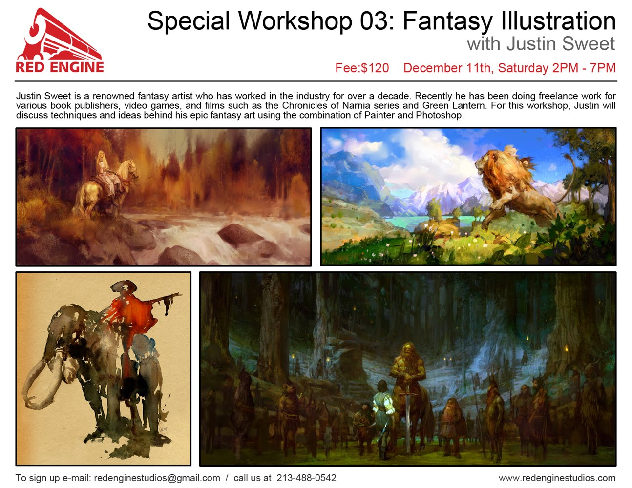 Justin Sweet Fantasy Art Workshop!!!
