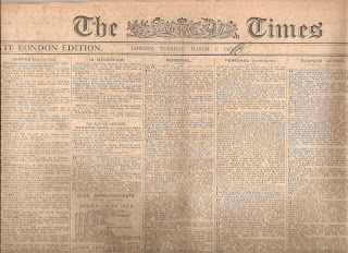 THE TIMES 1ST MARCH 1927