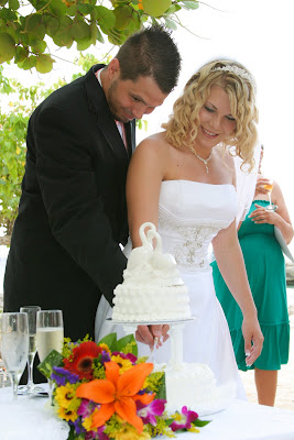 Cruisers enjoy this Smith's Cove, Grand Cayman Beach Wedding - image 2