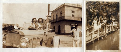 old vintage photos of three women possibly in Cuba