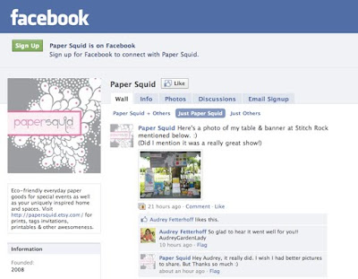 Paper Squid facebook fan page