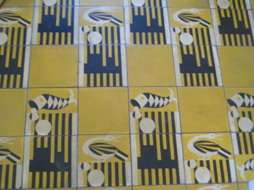Old graphic tile patterns from Ernest Hemmingway's home