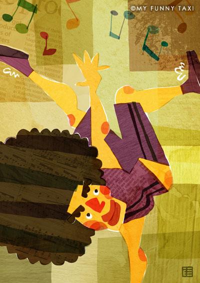 ダンスのイラスト dance illustration
