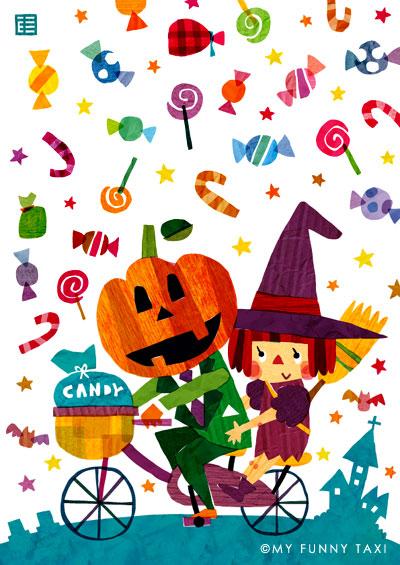 ハロウィンのイラスト Halloween illustration