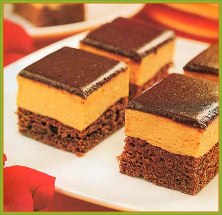 ... RECETAS: Recetas de Postres: Brownies con mousse de dulce de leche