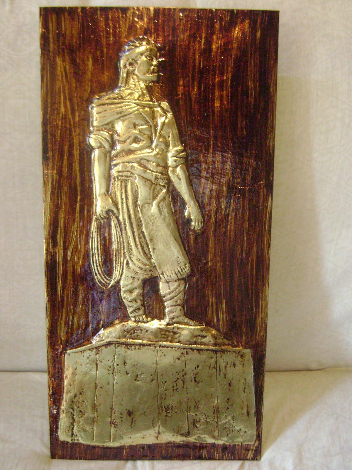 Adesivo Para Box De Banheiro ~ Julio Velasques Artesanato Gaúcho quadro cobre laçador c sem relógio med aprox 30x60cm rf 110