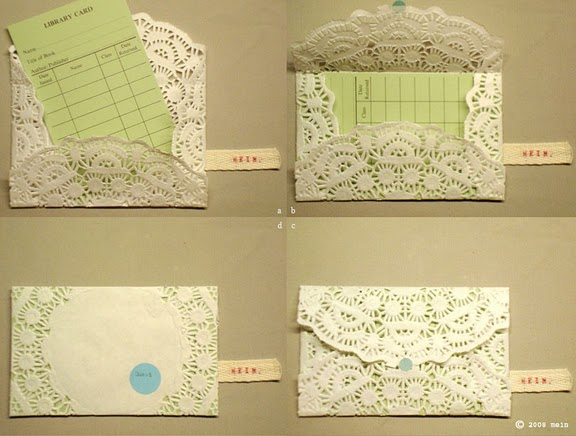 I stumbled across these gorgeous lacey envelopes on Daydream Lily