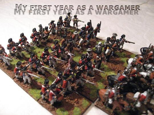My first year as a wargamer