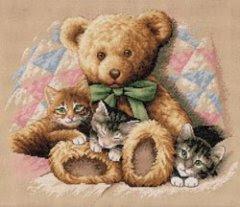 """Наборы для вышивания крестом Купить  """"Медвежонок и котята"""
